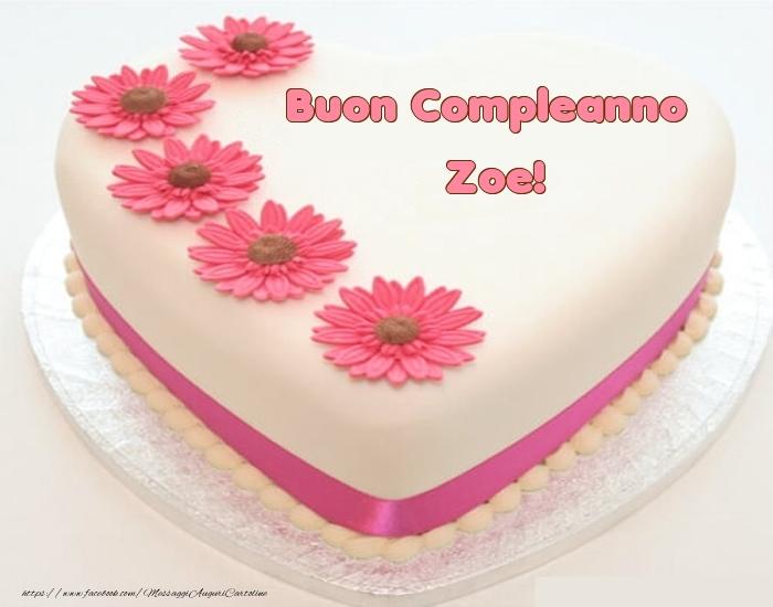 Cartoline di compleanno - Buon Compleanno Zoe! - Torta