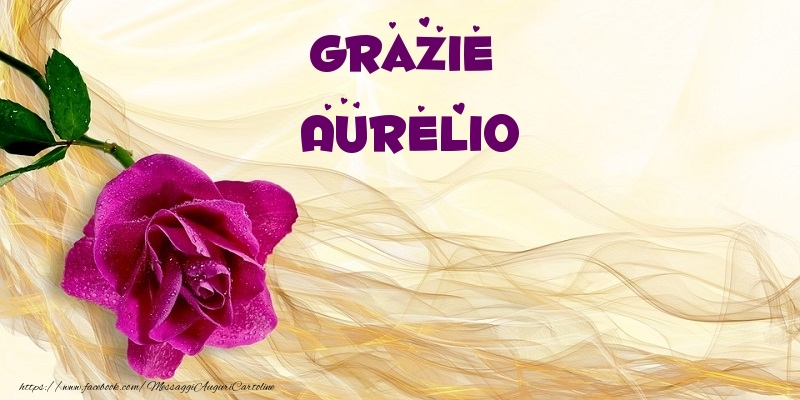 Cartoline di grazie - Grazie Aurelio