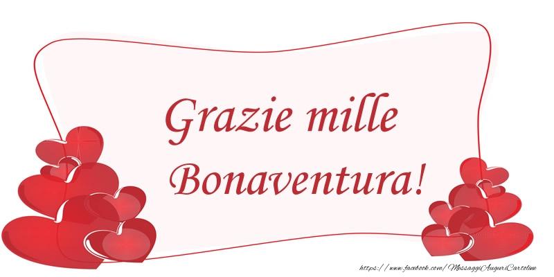 Cartoline di grazie - Grazie mille Bonaventura!