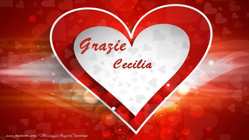 Cartoline di grazie - Grazie Cecilia