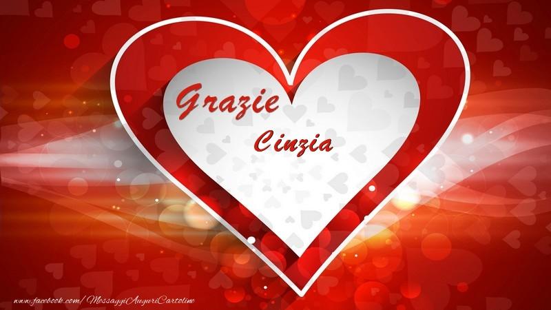 Cartoline di grazie - Grazie Cinzia