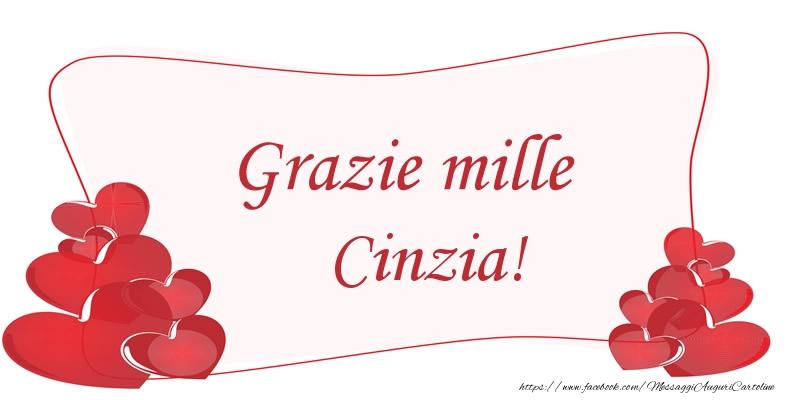 Cartoline di grazie - Grazie mille Cinzia!