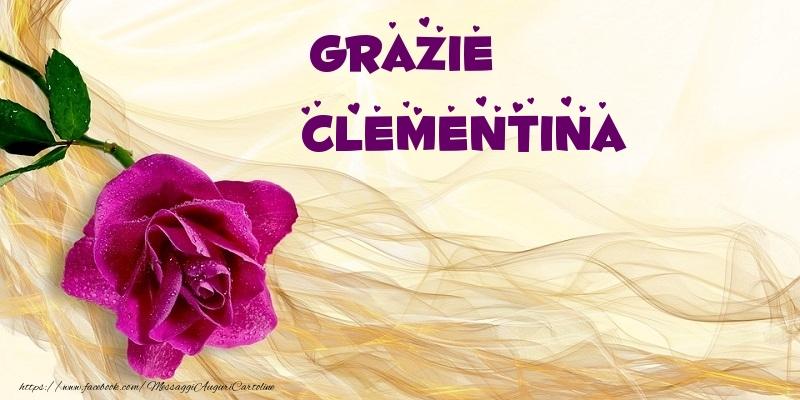 Cartoline di grazie - Grazie Clementina