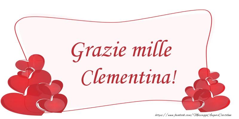 Cartoline di grazie - Grazie mille Clementina!