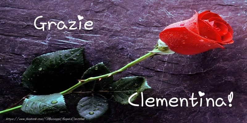 Cartoline di grazie - Grazie Clementina!