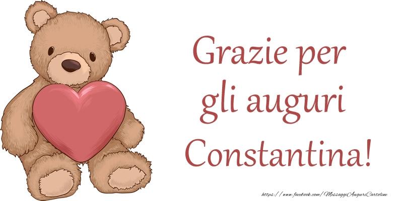 Cartoline di grazie - Grazie per gli auguri Constantina!