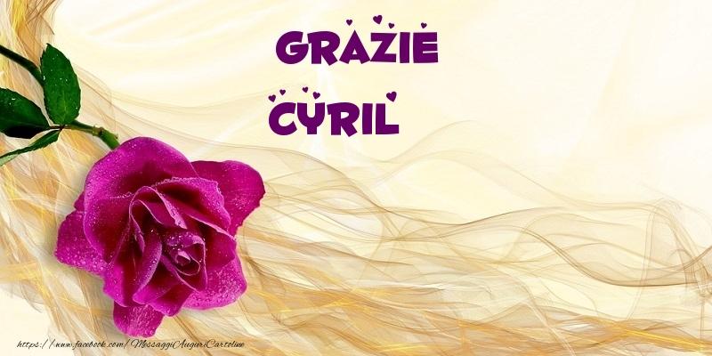 Cartoline di grazie - Grazie Cyril