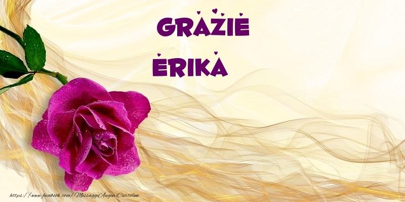 Cartoline di grazie - Grazie Erika