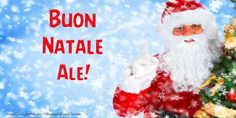 Cartoline di Natale - Buon Natale Ale!