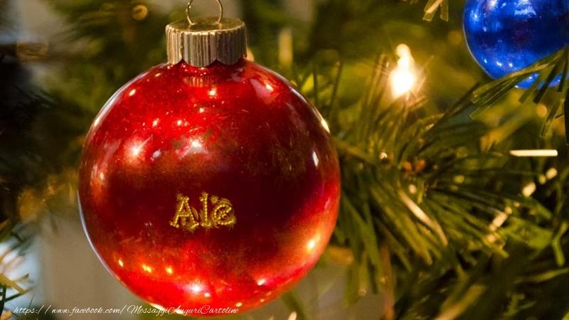 Cartoline di Natale - Il tuo nome sul globo di Natale Ale