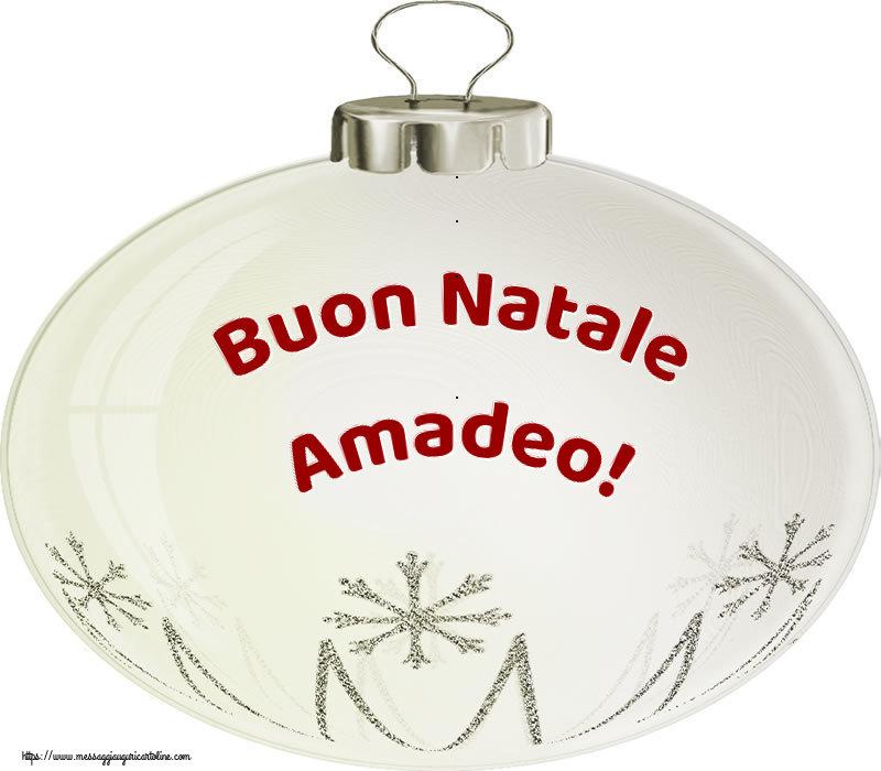 Cartoline di Natale - Buon Natale Amadeo!