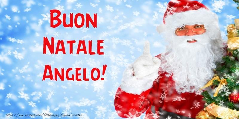 Angelo Natale.Buon Natale Angelo Cartoline Di Natale Per Angelo Messaggiauguricartoline Com