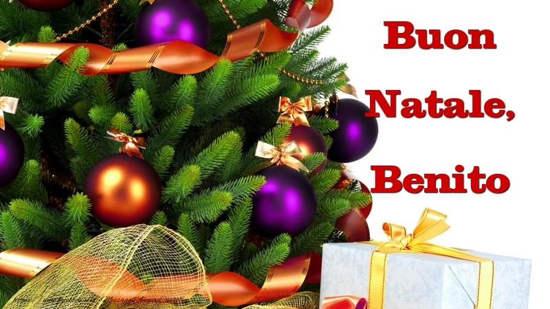 Cartoline di Natale - Buon Natale, Benito