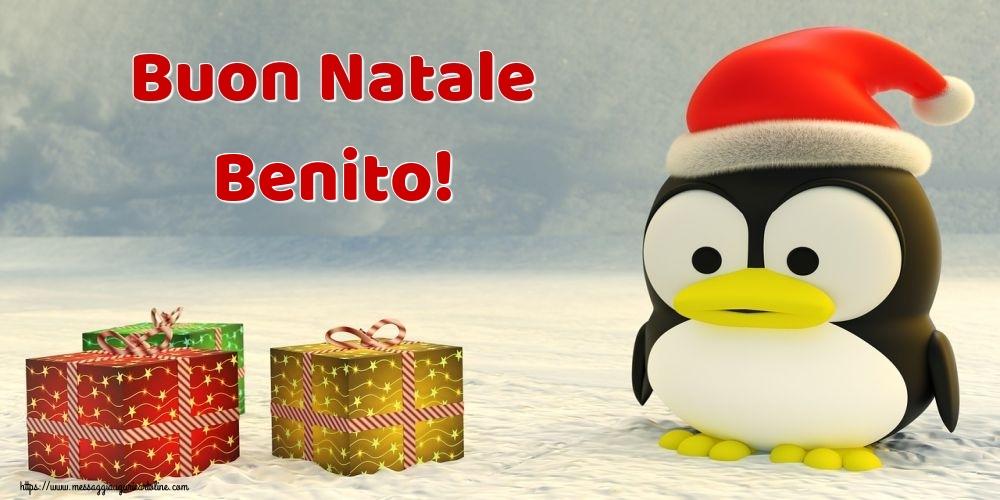 Cartoline di Natale - Buon Natale Benito!