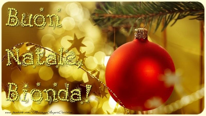 Cartoline di Natale - Buon Natale, Bionda