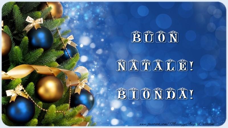 Cartoline di Natale - Buon Natale! Bionda