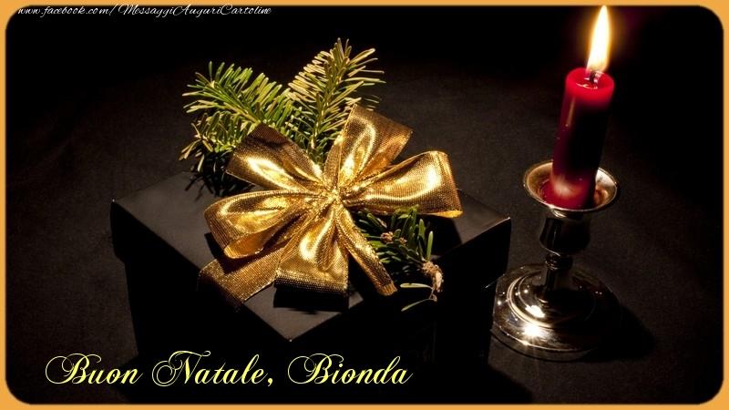 Cartoline di Natale - Bionda