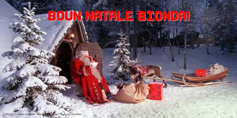Cartoline di Natale - Boun Natale Bionda!