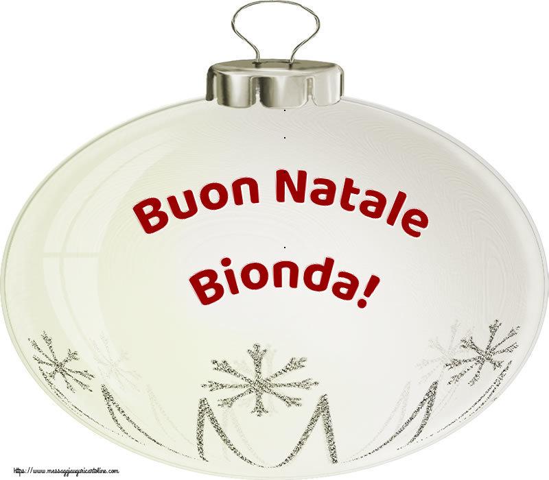 Cartoline di Natale - Buon Natale Bionda!