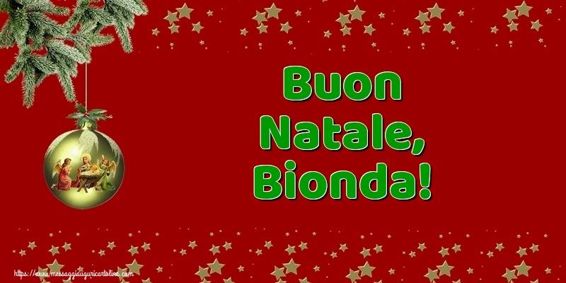 Cartoline di Natale - Buon Natale, Bionda!