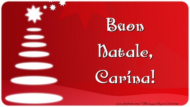 Cartoline di Natale - Buon Natale, Carina