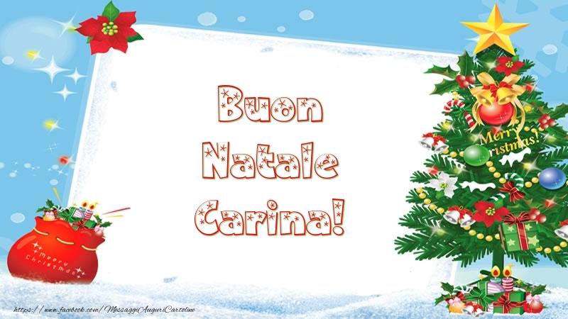 Cartoline di Natale - Buon Natale Carina!