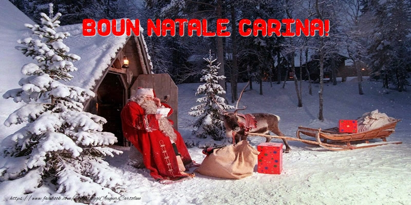Cartoline di Natale - Boun Natale Carina!