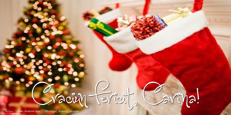 Cartoline di Natale - Buon Natale, Carina!