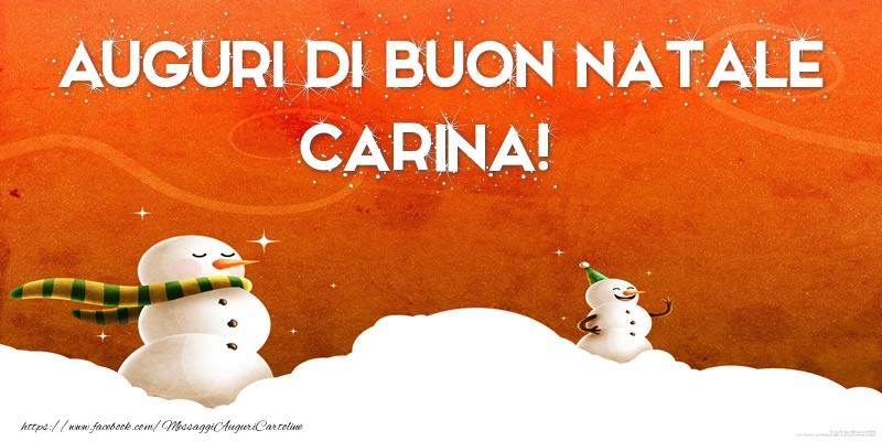 Cartoline di Natale - AUGURI DI BUON NATALE Carina!