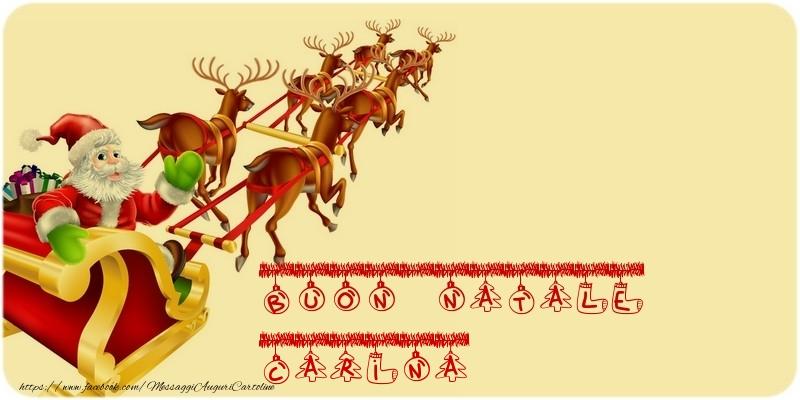 Cartoline di Natale - BUON NATALE Carina