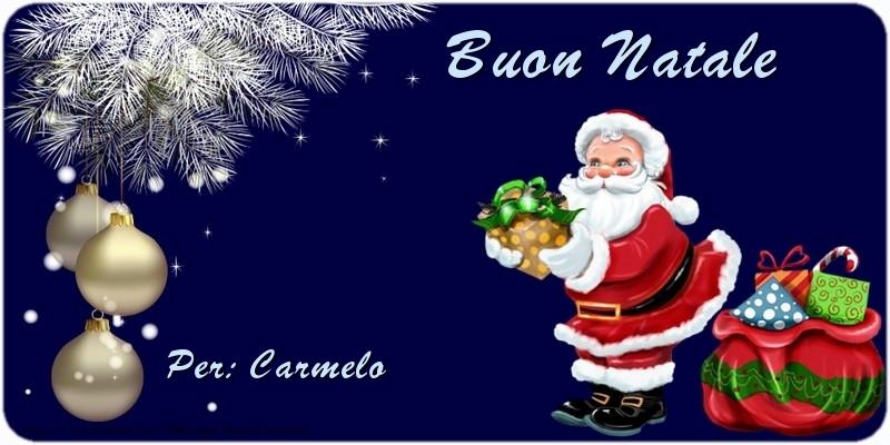 Cartoline di Natale - Buon Natale Carmelo