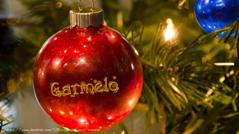 Cartoline di Natale - Il tuo nome sul globo di Natale Carmelo