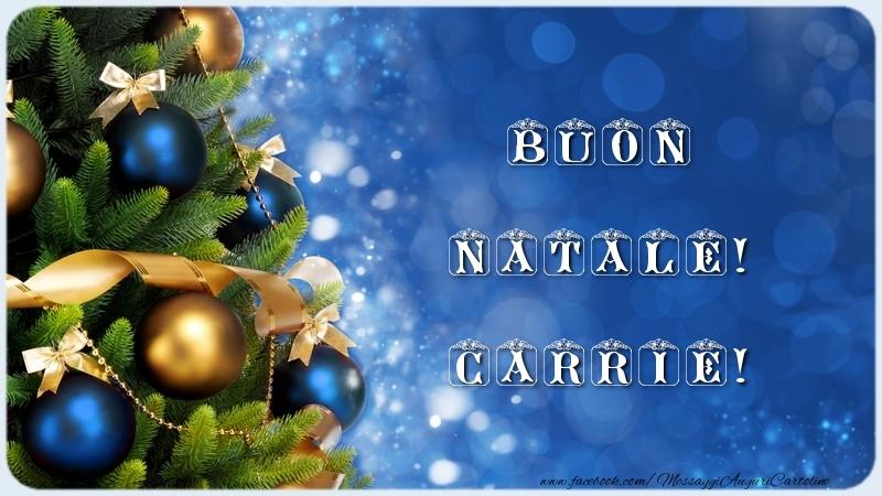 Cartoline di Natale - Buon Natale! Carrie