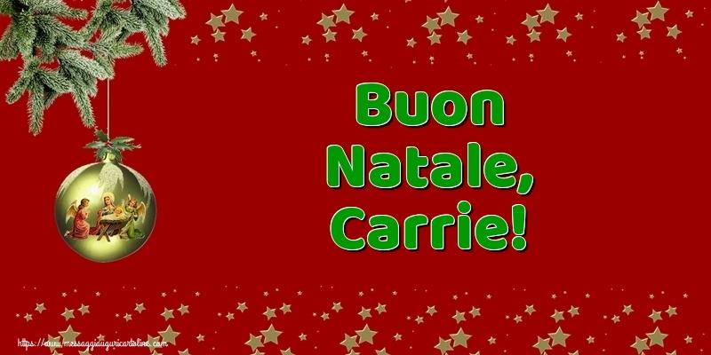 Cartoline di Natale - Buon Natale, Carrie!