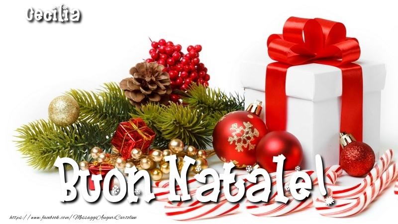 Cartoline di Natale - Buon Natale! Cecilia