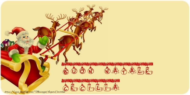 Cartoline di Natale - BUON NATALE Cecilia