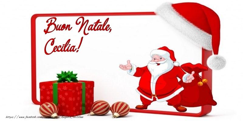 Cartoline di Natale - Buon Natale, Cecilia