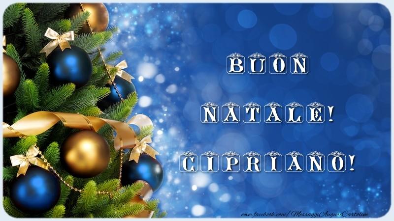 Cartoline di Natale - Buon Natale! Cipriano