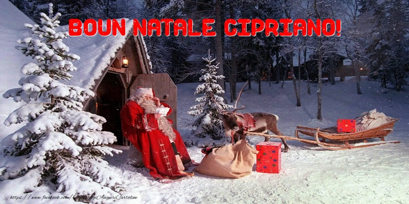 Cartoline di Natale - Boun Natale Cipriano!