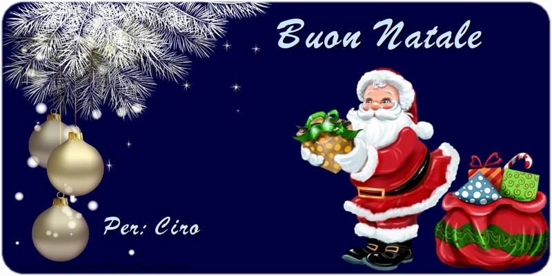 Cartoline di Natale - Buon Natale Ciro