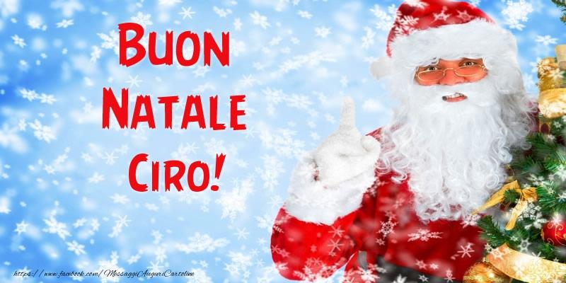 Cartoline di Natale - Buon Natale Ciro!