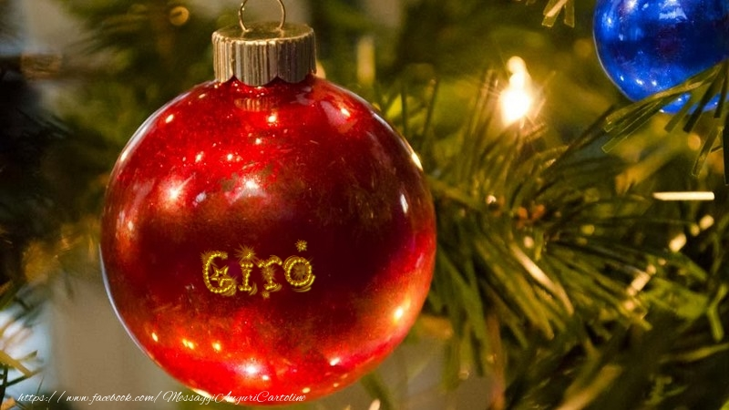 Cartoline di Natale - Il tuo nome sul globo di Natale Ciro