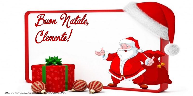 Cartoline di Natale - Buon Natale, Clemente