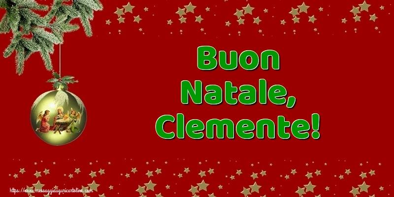 Cartoline di Natale - Buon Natale, Clemente!