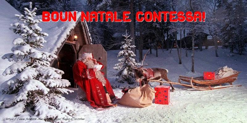 Cartoline di Natale - Boun Natale Contessa!