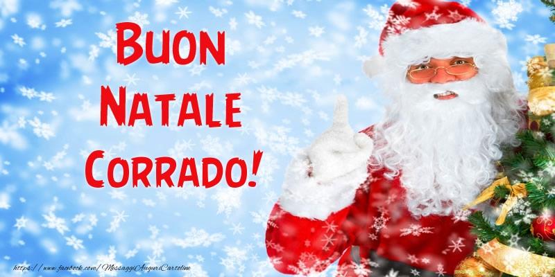 Cartoline di Natale - Buon Natale Corrado!