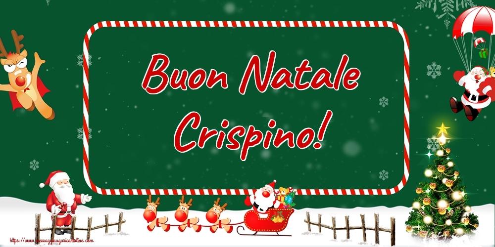 Cartoline di Natale - Buon Natale Crispino!