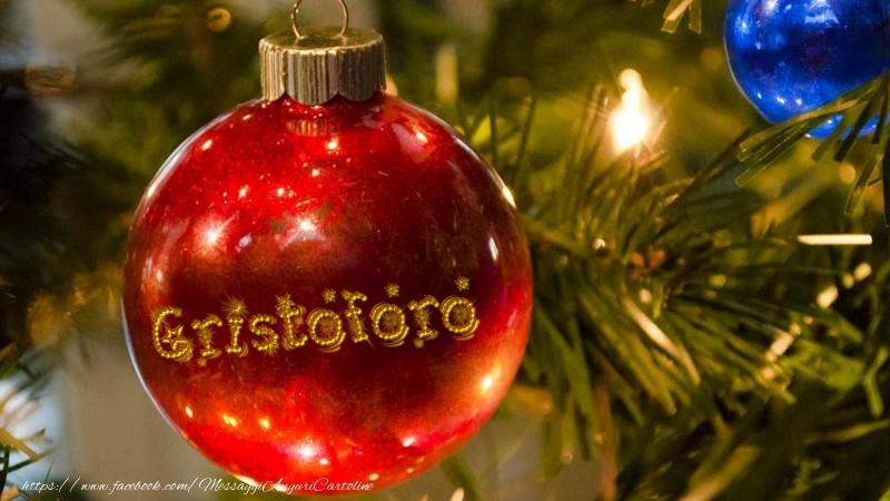 Cartoline di Natale - Il tuo nome sul globo di Natale Cristoforo