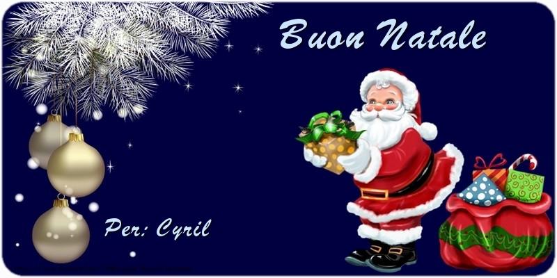 Cartoline di Natale - Buon Natale Cyril