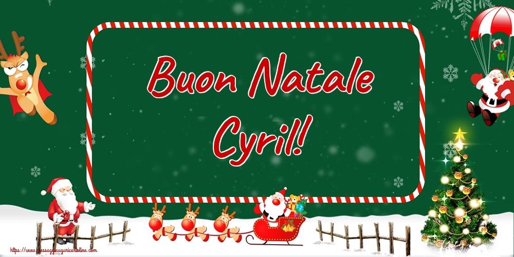 Cartoline di Natale - Buon Natale Cyril!